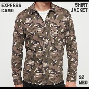 Express Camo Mens Shirt Jacket NWT